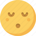 emoticon, emotion, expression, face, night, sleepy, smiley icon