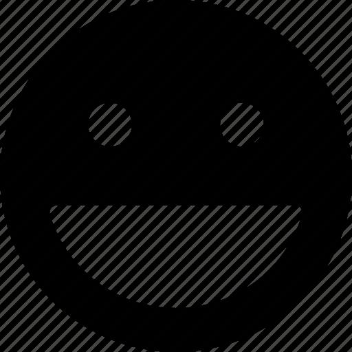 big, expression, happy, smile, smiley icon