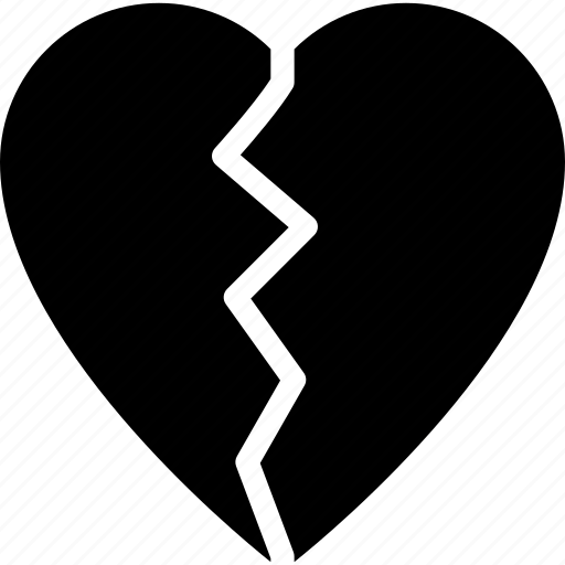 broken, expression, face, heart, valentine icon