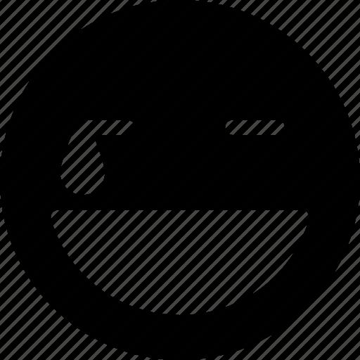 emoticon, happy, hard, laugh, smiley icon