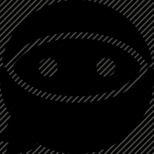 cartoon, character, expression, face, ninja icon