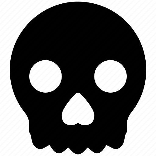 death, expression, face, skeleton, skull icon
