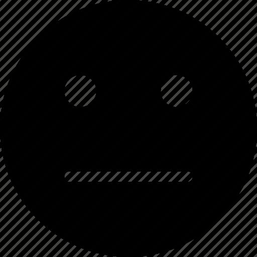 emoticon, expression, face, smile, strait icon