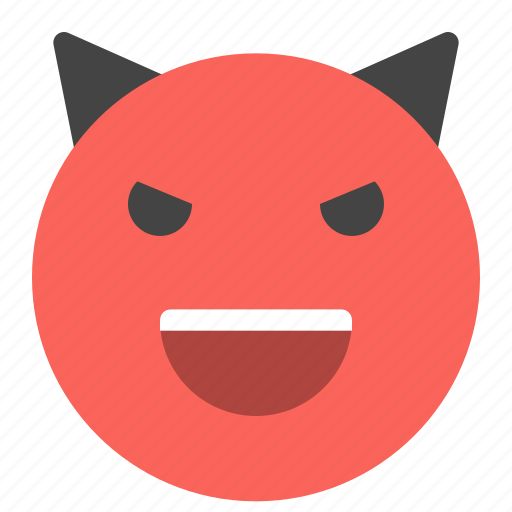 devil, emoticons, evil, horn, smile, smiley, smiling icon