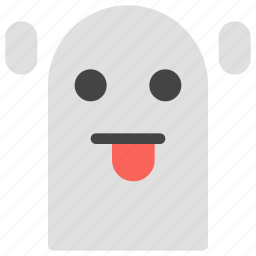 emoticons, ghost, horror, scary, smiley, spooky icon