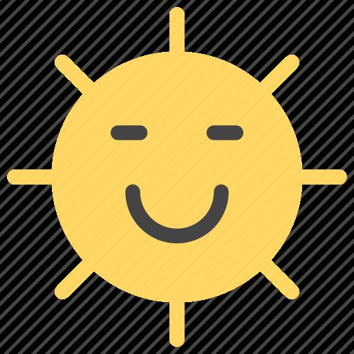 cheerful, emoticons, happy, smile, smiley, summer, sun icon