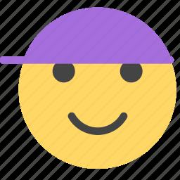 baby, boy, cheerful, happy, hat, kid, smile icon