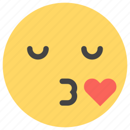 emoticons, kiss, lips, love, romantic, smiley icon