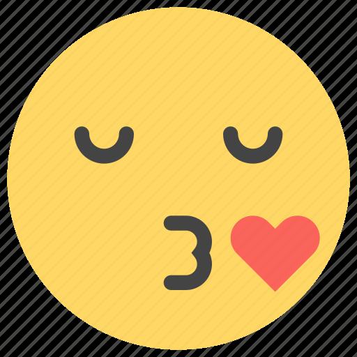 emoticons, kiss, lips, love, romantic, smiley icon