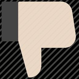 dislike, emoticons, finger, gesture, smiley, unlike, vote icon