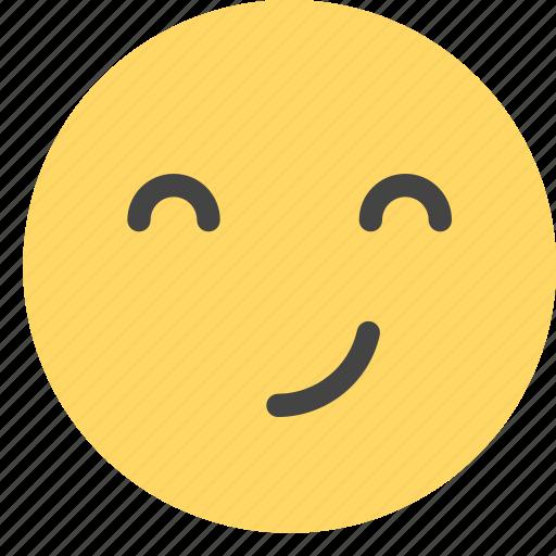 emoticons, malicious, smiley, smirking, spiteful icon