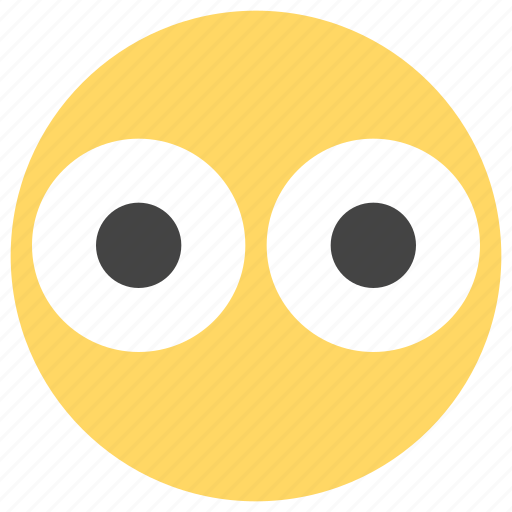 big, emoticons, eyes, smiley, surprise, surprised icon
