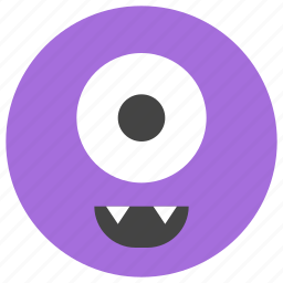 alien, cyclops, emoticons, eye, holidays, monster, smiley icon