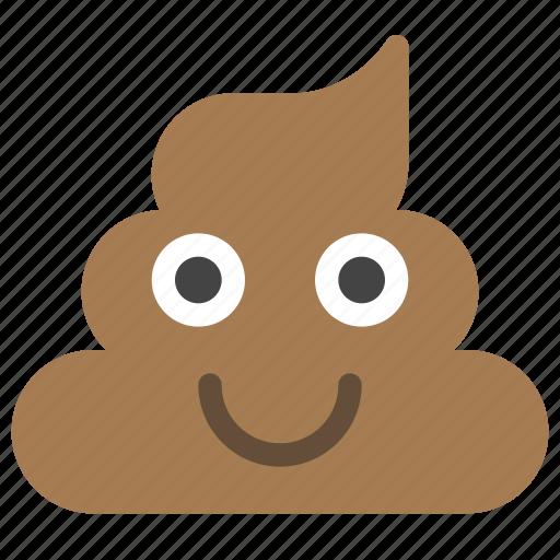 emoticons, happy, pet, pile, poo, poop, smiley icon