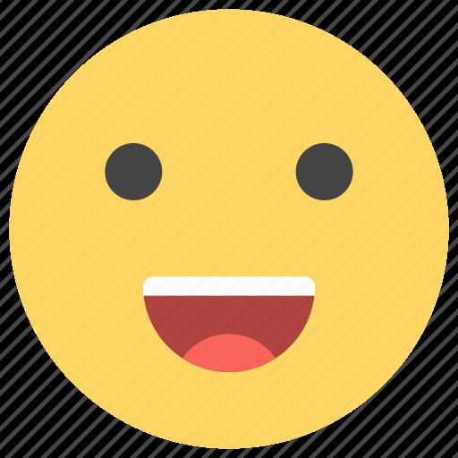 cheerful, emoticons, happy, laugh, positive, smile, smiley icon