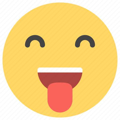 emoticons, happy, mouth, out, silly, smiley, tongue icon