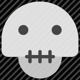 danger, dead, death, emoticons, skeleton, skull, smiley icon