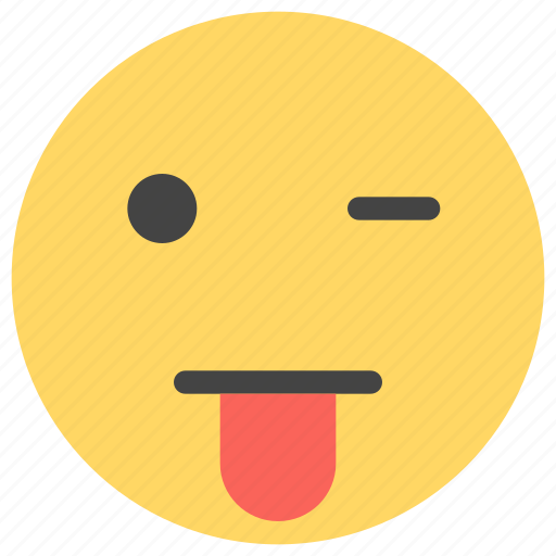cheerful, emoticons, happy, satisfied, smile, smiley, wink icon