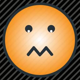depressed, disappoint, emoji, emoticon, sad, shocked, worry icon