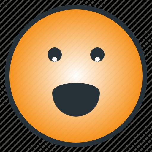 emoji, emoticon, happy, laugh, pleasant, smile, smiley icon