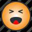 cheertul, emoji, emoticon, enjoyful, laugh, pleasant, ridiculous icon