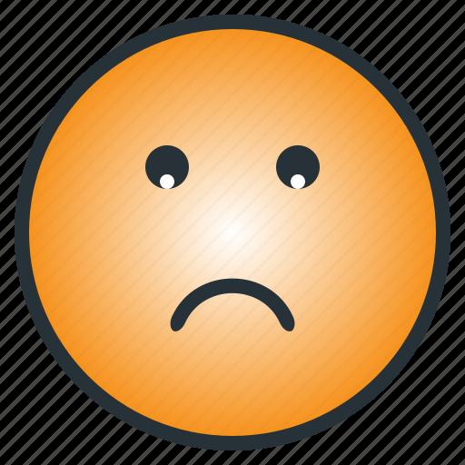depressed, emoji, emoticon, face, gloomy, sad, worry icon
