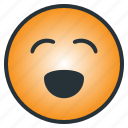 cheerful, emoji, emoticon, enjoyful, happy, laugh, pleasant icon