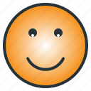emoji, emoticon, enjoyful, happy, laugh, pleasant, smile icon