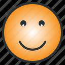 emoji, emoticon, enjoyful, happy, laugh, pleasant, smile icon