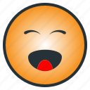 cheerful, emoji, emoticon, happy, laugh, pleasant, smile icon