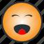 cheerful, emoji, emoticon, happy, laugh, pleasant, smile icon