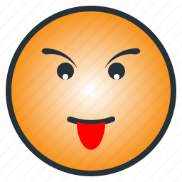 emoji, emoticon, face, kid, tease, tonge out icon