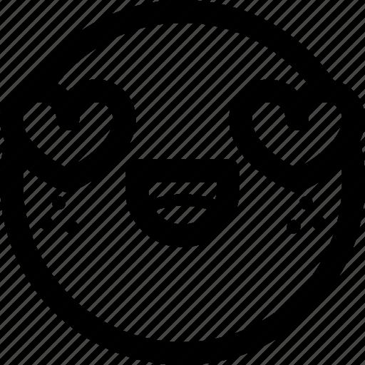 emoji, emoticon, emoticons, expression, love, lovely, smiley icon