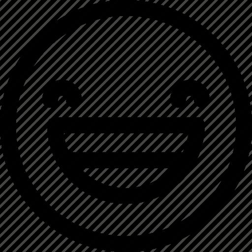 emoji, expression, happy, laugh, smile, smiley icon