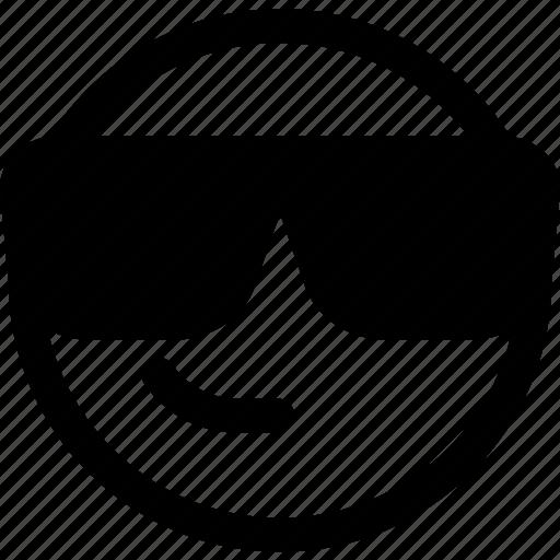 emoji, emoticon, eyeglass, shades, smiley, sunglasses icon