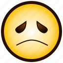;-(, color, emoji, emotion, sad, smiley icon