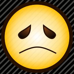 ;-(, color, emoji, emotion, sad, smiley icon