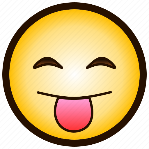 color, drooling, emoji, happy, smile, tongue, x-p icon