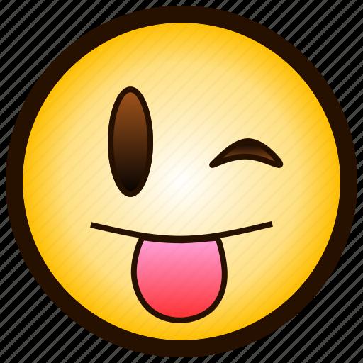 ;-p, color, drooling, emoji, smile, smiley, tongue icon