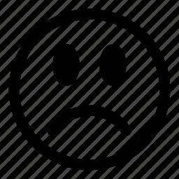 emoticons, expression, face, sad, smiley icon