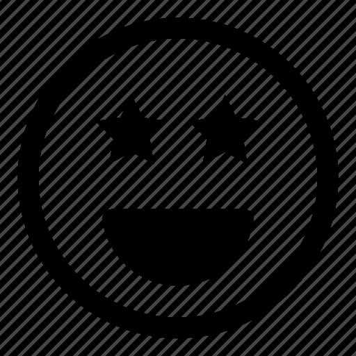 award, emoticon, emoticons, expression, face, favorite, happy, smile, smiley, star icon