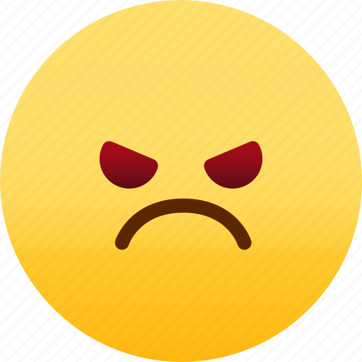 angry, emoji, emotion, expression, face, feeling icon
