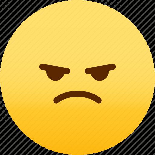 emoji, emotion, expression, face, feeling, mad icon