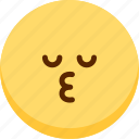 emoji, emotion, expression, face, feeling, kiss icon