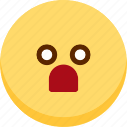 emoji, emotion, expression, face, feeling, shocked icon