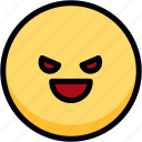 emoji, emotion, evil, expression, face, feeling