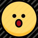 emoji, emotion, expression, face, feeling, mouth, open