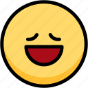 emoji, emotion, expression, face, feeling, relax icon
