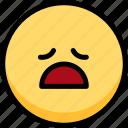 emoji, emotion, expression, face, feeling, tried