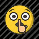 silence, emoji, emoticon, quite icon